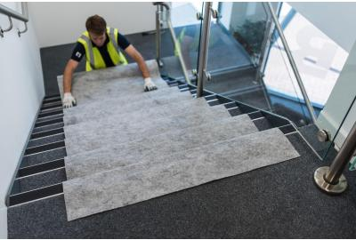 How do I protect expensive stone floors?